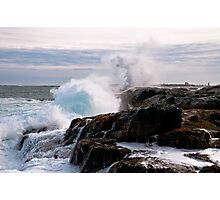 Nor' Easter on Ocean Point, Maine Photographic Print