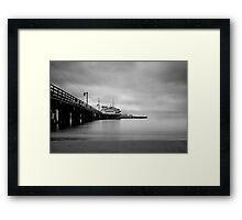 Santa Barbara Pier Framed Print