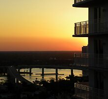 "Intracoastal ""Halifax River"" Sunset by Bonnie Robert"