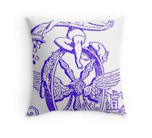 WHEEL OF FORTUNE TAROT CARD DESIGN BY LIZ LOZ Throw Pillow