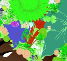 Flower 'Fro ver. 6 Sticker
