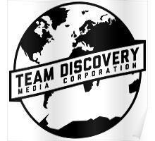 Team Discovery Logo - Black Poster