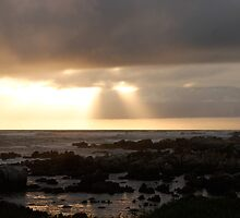 Ray of light, Sunset at Willows, Port Elizabeth, Eastern Cape, South Africa by Carel du Preez