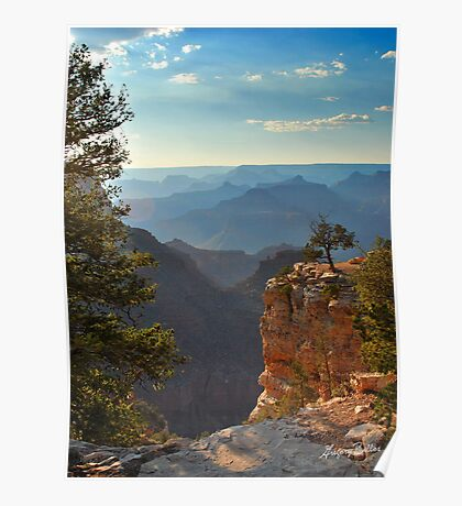 Sun Setting on Grand Canyon  Poster
