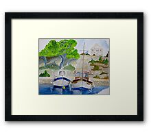 Quiet Harbour Framed Print