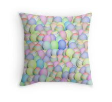 Pastel Colored Easter Eggs Throw Pillow