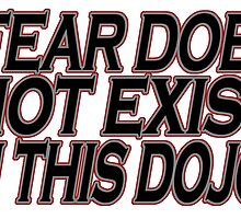 FEAR DOES NOT EXIT IN THIS DOJO by birthdaytees