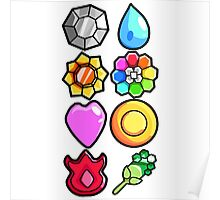 Kanto Badges Poster
