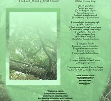 Medium Tall Poster Ancient Trees in Prayer- A Poetic Reminder to Rest upon the Great Rock - The Lord Jesus Christ Himself by manna