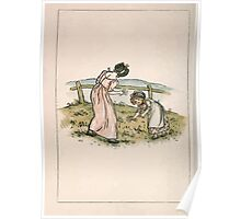 Kate Greenaway Almanack 1893 0012 January Poster