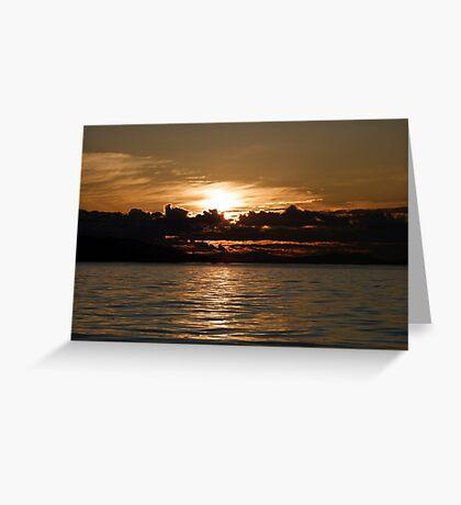Pender Island Sunset Greeting Card