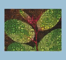 Five Leaves - Stone Rock'd Art By Sharon Cummings Kids Clothes