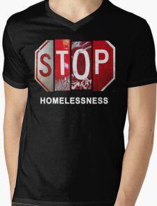 STOP Homelessness 1 Mens V-Neck T-Shirt