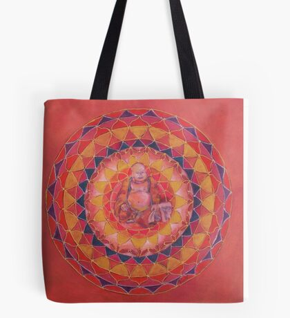 Abundance Buddha free-hand mandala Tote Bag