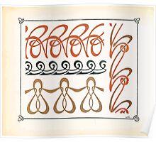 Maurice Verneuil Georges Auriol Alphonse Mucha Art Deco Nouveau Patterns Combinaisons Ornementalis 0004 Poster