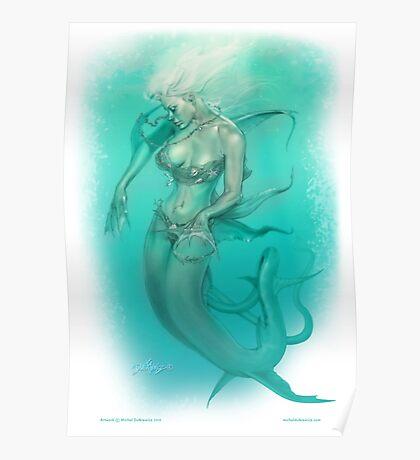 Mermaid Dreams... In Bikini Poster