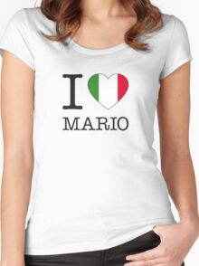 I ♥ MARIO Women's Fitted Scoop T-Shirt