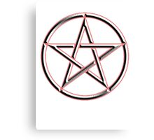 WICCA, Witch, Wizard, Pentacle, modern Pagan, Witchcraft, religion. Canvas Print