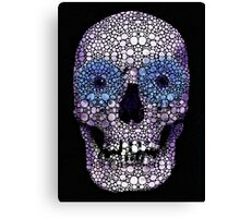 Skull Art - Day Of The Dead 2 Stone Rock'd Canvas Print