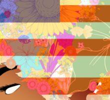 American Flower 'Fro ver. 2 Sticker
