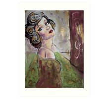 A woman of the olde world Art Print