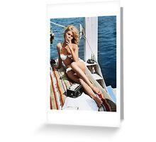 Brigitte Bardot Smoking in a Bikini Greeting Card