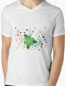 Tropical Flower and Floral Ornament3 Mens V-Neck T-Shirt