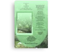 Medium Tall Poster Ancient Trees in Prayer- A Poetic Reminder to Rest upon the Great Rock - The Lord Jesus Christ Himself Canvas Print