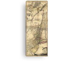 New Jersey Pennsylvania New York Map (1777) Canvas Print