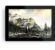 Mountain Scene (Bordered) Metal Print
