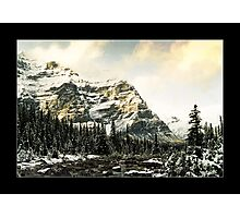 Mountain Scene (Bordered) Photographic Print