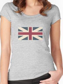UK Flag Women's Fitted Scoop T-Shirt