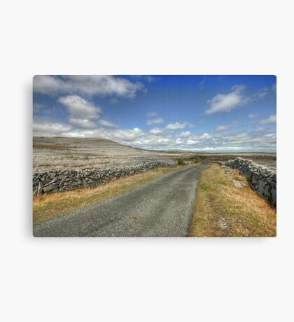 The Burren Road Canvas Print