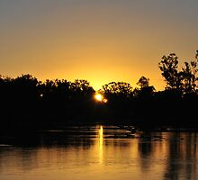 Anzac Day Sunset Over The Murray by MissyD