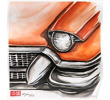Red Cadillac Poster