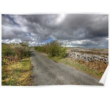 Rural Burren Road Poster