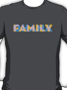 Ohana/Family - Orange, Blue and Pink T-Shirt