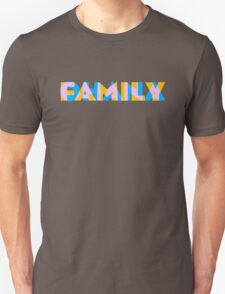Ohana/Family - Orange, Blue and Pink T-Shirt