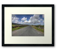Burren road Framed Print