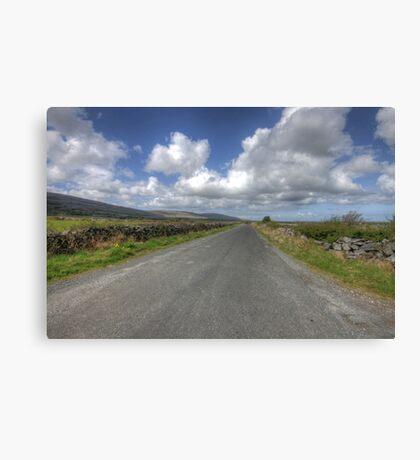 Burren road Canvas Print