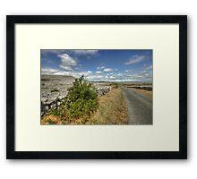 Rural Clare road Framed Print
