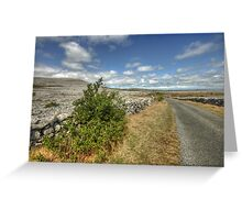 Rural Clare road Greeting Card