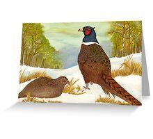 Brace of Pheasants Greeting Card