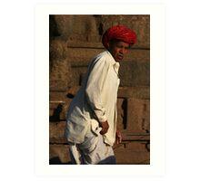 Red Turban Art Print