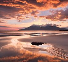 Isle of Eigg. Singing Sands Sunset. Highlands and Islands. Scotland. by photosecosse /barbara jones