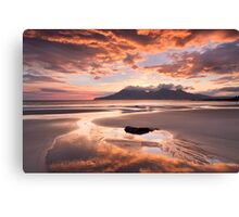 Isle of Eigg. Singing Sands Sunset. Highlands and Islands. Scotland. Canvas Print