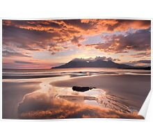Isle of Eigg. Singing Sands Sunset. Highlands and Islands. Scotland. Poster