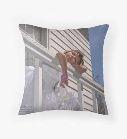 Flowergirl...Someday! Throw Pillow