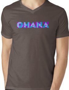 Ohana/Family - Blue & Purple Mens V-Neck T-Shirt