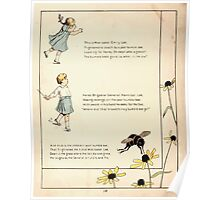 The Glad Year Round for Boys and Girls by Almira George Plympton and Kate Greenaway 1882 0026 Bumble Bee and Emily Lee Poster